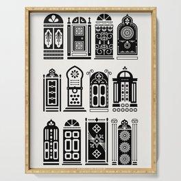 Moroccan Doors – Black Palette Serving Tray