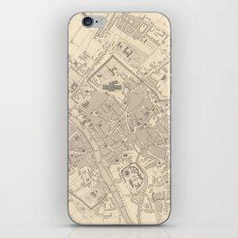 Vintage Map of York England (1851) iPhone Skin