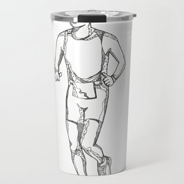 Marathon Running Doodle Art Travel Mug