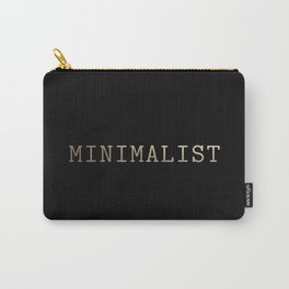 Black and Gold Minimalist Typewriter Carry-All Pouch