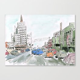 1950s Los Angeles Canvas Print