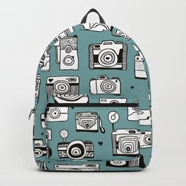 Smile action toy camera vintage photography pattern Backpack