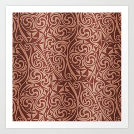 Celtic Warlord copper Art Print