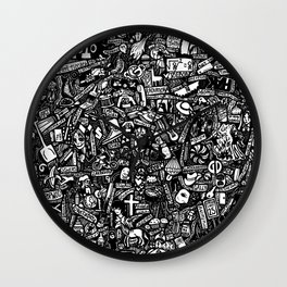High School Doodle Wall Clock