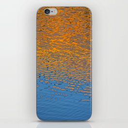 Orange and Blue Water Reflection iPhone Skin