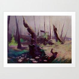 Rebirth | painted Bambi landscape Art Print