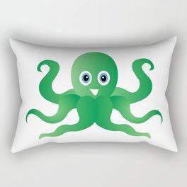 Fun green octopi Rectangular Pillow
