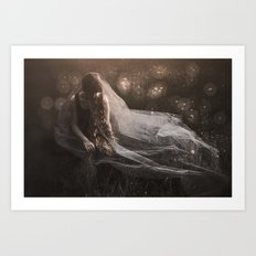 Dreaming of a white wedding Art Print