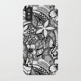 f6f494742 Hawaiian Polynesian Trbal Tatoo Print iPhone Case