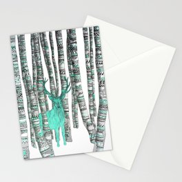 Turquoise Stag Stationery Cards