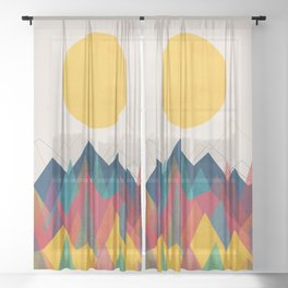 Uphill Battle Sheer Curtain