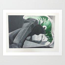 green Allstars Art Print