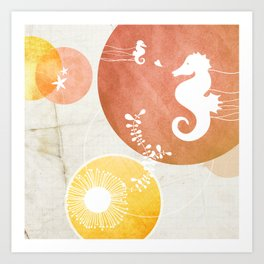 Ocean Series - Papa Seahorse Art Print