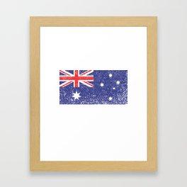 Australia Flag Vintage Australian National Country Gift Framed Art Print