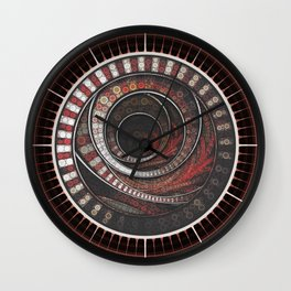 Beautiful Striped Fractal Circles, the Thousand and One Rings of the Circus Wall Clock