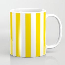 Stripe Texture (Yellow & White) Coffee Mug