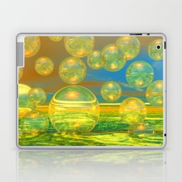 Golden Days, Abstract Yellow and Azure Tranquility Laptop & iPad Skin
