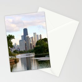 Chicago by River Stationery Cards