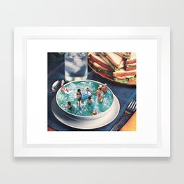 SOUP DU JOUR Framed Art Print