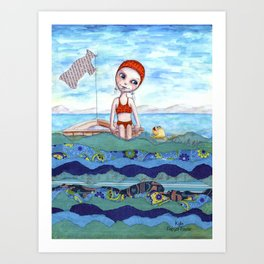 Swimming Solitude by Kylie Fowler Art Print