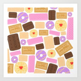 Biscuit (White Background) Art Print