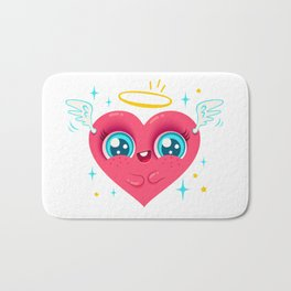 Angel heart Bath Mat