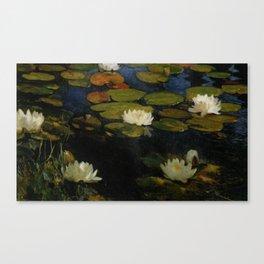 Waterlilies by Albert Edelfelt Canvas Print