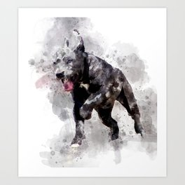 Playing Puppy Running Art Print