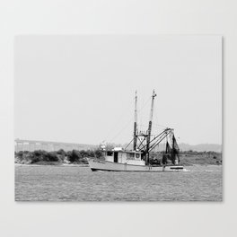 Shrimp Boat in Apalachicola Bay Canvas Print
