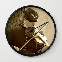 Civil War Fiddle Player Wall Clock