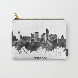 Liverpool England Skyline BW Carry-All Pouch