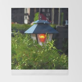 Lantern at Dusk Throw Blanket
