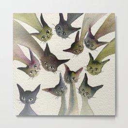 Kessells Whimsical Cats Metal Print
