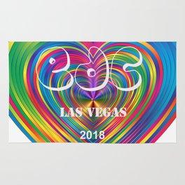 Electric Daisy Carnival Heart Rug