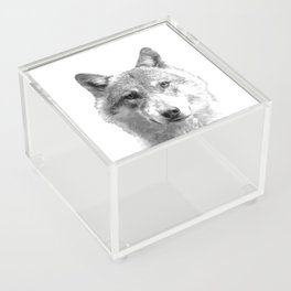 Black and White Wolf Acrylic Box
