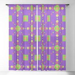Neon Bus Seat Seamless Pattern Sheer Curtain
