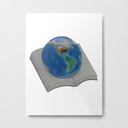 The World in Pages Metal Print