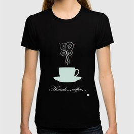 Aaah...coffee...  Retro / Vintage Coffee Print on Hello Sunshine Background T-shirt