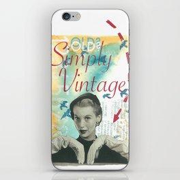 Old? Simply Vintage. iPhone Skin