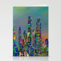 karu kara Stationery Cards featuring Graffiti City by Klara Acel