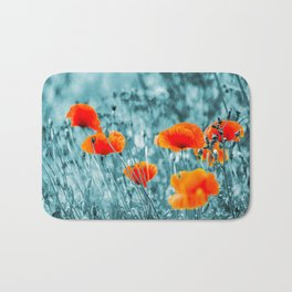 Red Poppy/ Roter Mohn Bath Mat