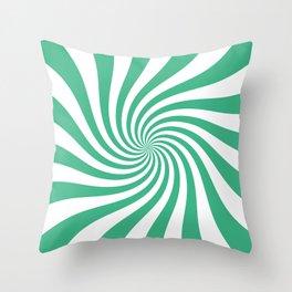 Swirl (Mint/White) Throw Pillow