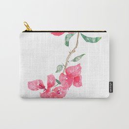 red  pink  bougainvillea watercolor Carry-All Pouch