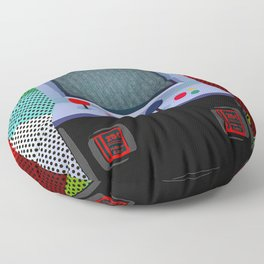 Retro Arcade Joystick Video Game Floor Pillow