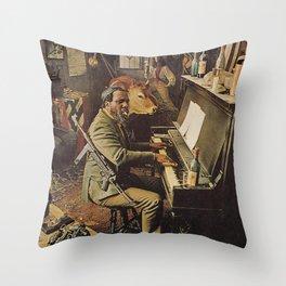 Reproduction Jazz Poster,Thelonious Monk  Underground Throw Pillow