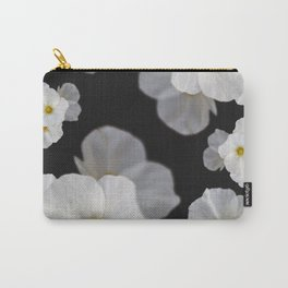 White blossom flower in pattern Carry-All Pouch
