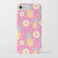 pinapple iPhone & iPod Cases featuring Pink Pinapple by KattyB