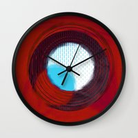 aperture Wall Clocks featuring aperture 2 by Ricochet  Elm  Studio