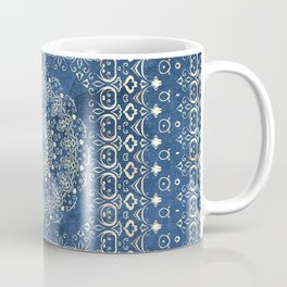 Old Bookshop Magic Mandala in Blue Coffee Mug