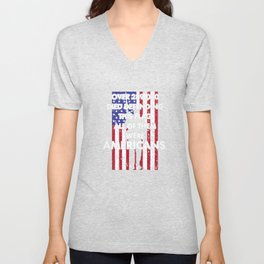 American History T Shirts Defending This Flag Americans Unisex V-Neck